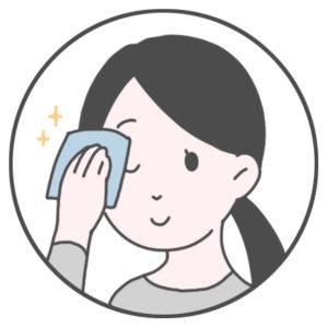 手を良く洗い、清潔なコットンやティッシュなどでめやにを丁寧に拭き取りましょう。